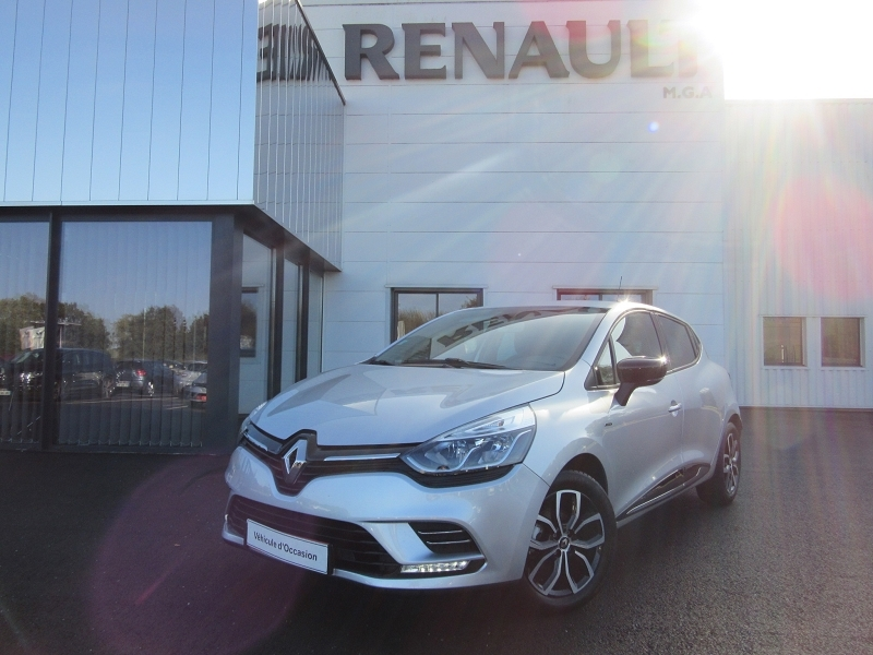 Renault CLIO IV TCE 90 ENERGY LIMITED + GPS + RADAR Essence GRIS CLAIR Occasion à vendre